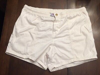Vtg 60's Duke Kahanamuko Champion Swim Trunks Board Shorts~Large~Unstained White