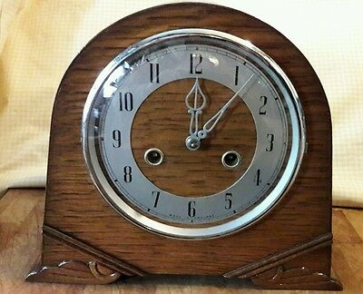 Smiths 2Key Striking Mantle Clock Complete With Pendulum &key In E.w.o   Sm+1