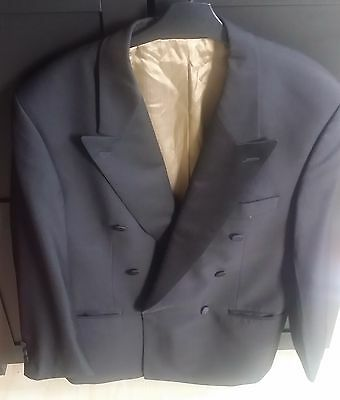 Mens Black Double Breasted Evening Jacket Size 42S Van Gils