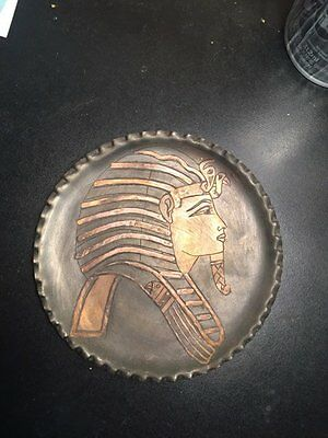king Tut small metal plate 5 Inch