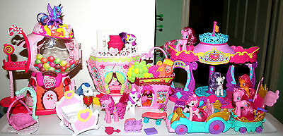 My Little Pony Supermarket Hair Spa Carousel Bubblegum Bases Ponies Accessories