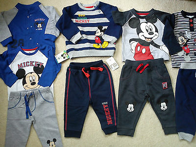 *AMAZING*31x NEW BUNDLE OUTFITS MICKEY MOUSE WINTER BABY BOY 6/9 MTHS (3)NR431