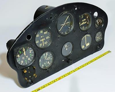1950s de Havilland DHC-1 aeroplane flight cockpit complete instrumentation panel