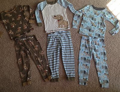 Lot Of 6 Boys Carters 2- Piece Pajamas Size 3T Dog Puppy