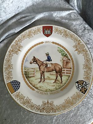 Spode Plate - The Second St Leger Plate - 1971 Athens Wood