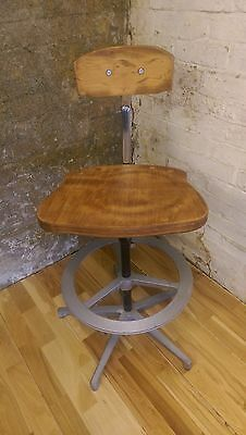 Vintage Retro Engineers Chair Industrial Chair Architects Chair Swivel Office