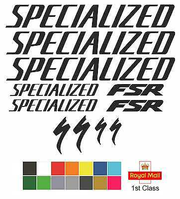 Specialized FSR Replacement Mountain Bike Frame Vinyl Decals Stickers MTB