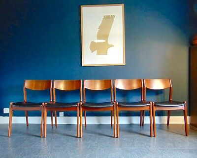 Mid Century Danish Rosewood Dining Chair Set. Vintage 1950's • £425.00