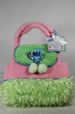 Webkinz 'Plush Pet Carrier' Colorful Lime Green & Pink  New W/Code