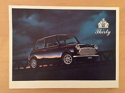MINI Thirty 30 ROVER Car Sales Brochure Catalogue 1989 LIMITED EDITION