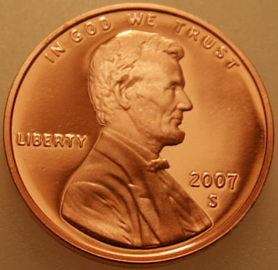 2007-S Lincoln Memorial Cent Proof Red Penny