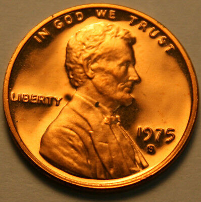1975-S Lincoln Memorial Cent Proof Red Penny