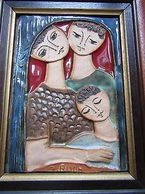 Mid century Ruth Faktor ceramic wall tile pottery