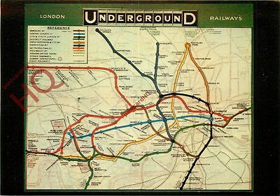 Postcard: LONDON TRANSPORT POSTER, UNDERGROUND MAP (REPRO)