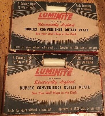 Lot Of 11 Vintage NOS Luminite Lighted Switches And Outlet Covers