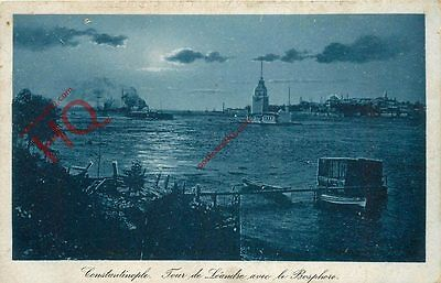 Postcard: Constantinople (Istanbul), Maiden's Tower And Bosphorus