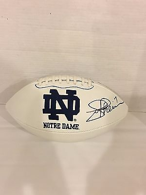 Joe Theismann Signed Notre Dame Fighting Irish Logo Football Autographed