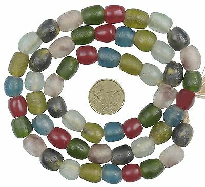 NEW AFRICAN mix KROBO BOTTLE TRANSLUCENT POWDERGLASS TRADE GLASS BEADS GHANA