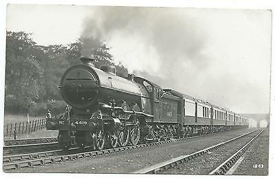 LONDON, NORTH EASTERN RAILWAY -  Steam Loco no.4419  F.Moore Real Photo Postcard