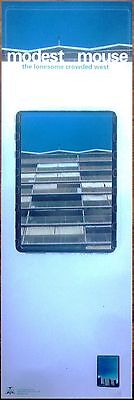 Modest Mouse Poster Banner - The Lonesome Crowded West - BLUE Promo Only 12 x 36