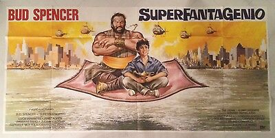 Manifesto Originale 6F Superfantagenio Bud Spencer Agren Corbucci Ottimo Raro
