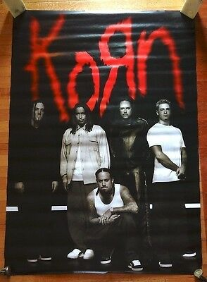KORN Promotional POSTER UK import subway sized 40 x 60 collectible