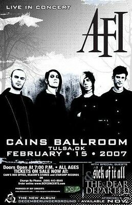 AFI CONCERT POSTER sick of it all THE DEAR DEPARTED