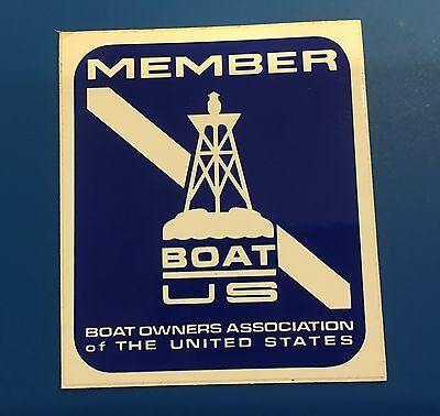 BOAT OWNERS ASSOCIATION OF THE UNITED STATES STICKER DECAL & Bonus Flag Stickers