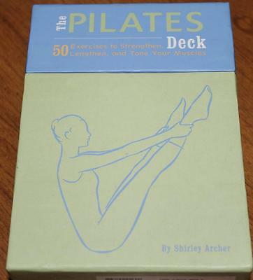 Excellent!    *PILATES DECK*   50 exercise cards   Strengthen lengthen and tone