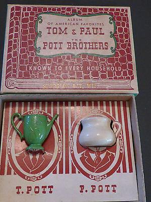 """Vintage 1940s Souvenier """"The Pott Brothers"""" gag gift from Sturgeon Bay, Wis"""