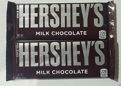 2 x Hersheys Milk Chocolate American Bar 43g