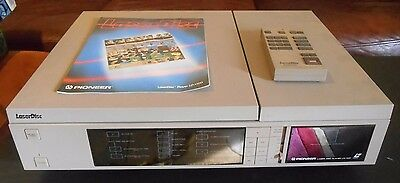 Vintage Pioneer LD-1100 Laser Disc Player, MANUALS, REMOTE EXCLENT GRANDMA OWNED
