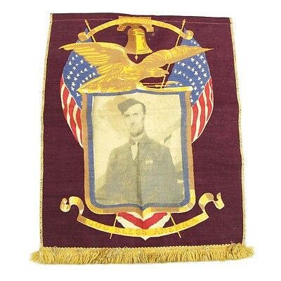 Us Army Wwii Window Flag - Banner Tapestry With Printed Photograph Patriotic