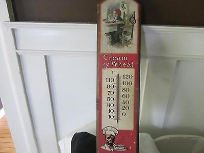 "Vintage wood thermonter. ""Cream of Wheat advertising. Nabisco brand."