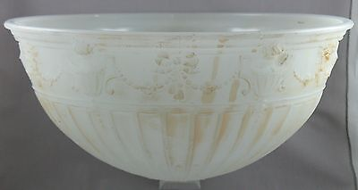 Art Deco Neoclassical Glass Hangling Lamp Shade Ceiling Northwood Alabaster