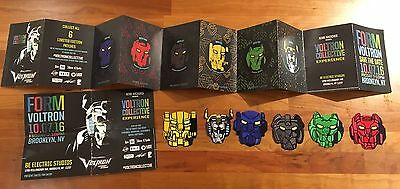 NYCC 2016 EXCLUSIVE VOLTRON COLLECTIVE EXPERIENCE PATCHES PASSPORT Complete Set