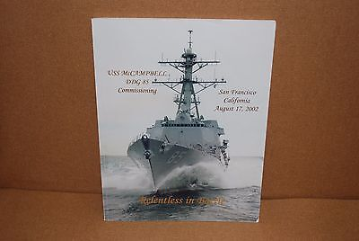 USS McCampbell DDG 85 Commissioning Program, San Francisco, CA, 2002 US Navy