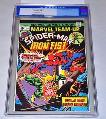 Marvel Team-Up 31 CGC 9.8 Off-White to White Pages Iron Fist Amazing Spider-Man