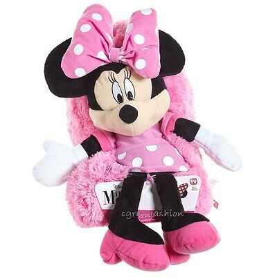 """Disney Minnie Mouse Large 14"""" HideAway Pets Bed Cuddle Pillow Plush Stuffed Toy"""