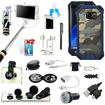15 x Camouflage Case Cover Fish Eye Monopod Bundle For Samsung Galaxy S7 Edge