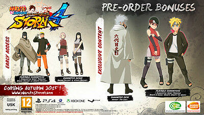 Naruto Shippuden Ultimate Ninja Storm 4 Preorder DLC only Xbox One XB1 (no game)
