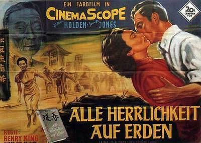 LOVE IS A MANY SPLENDORED THING Movie POSTER 11x17 German B William Holden
