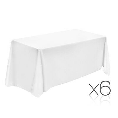 NEW 259cm White 6x Wedding Home Party Banquet Table Cloth Tablecloth Rectangle