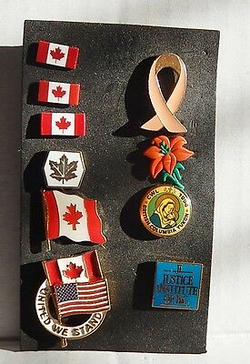 Mixed Lot Of Ten Collector Pins