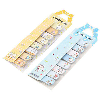 Cute Animal Design Removable Adhesive Paper Sticky Notes Footnote Reusable K5
