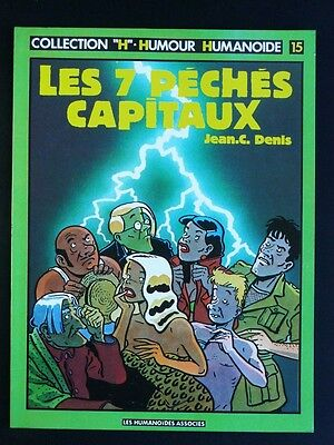 "LES 7 PECHES CAPITAUX Jean C DENIS , collection ""H"" Humour Humanoïde tome 15 ..."