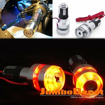 AU 7/8'' Motorcycle Handle Bar End LED Turn Signal Light Universal For Honda X2