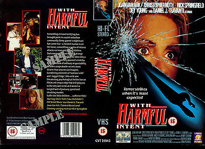 With Harmful Intent - Dey Young - Video Promo Sample Sleeve/Cover #16424