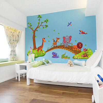Cute Animals Wall Stickers Children Room Decor DIY Art Decal Removable Stickers