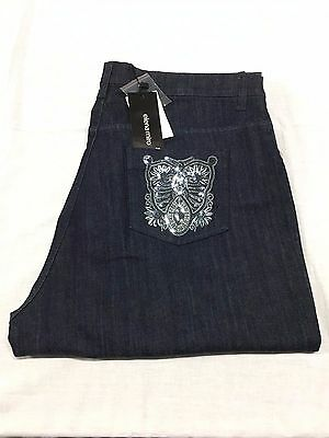 ELENA MIRÒ women's jeans dark blue with applications silver about pockets